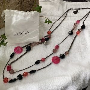 FURLA Gemstone Necklace - Matching Earrings avail